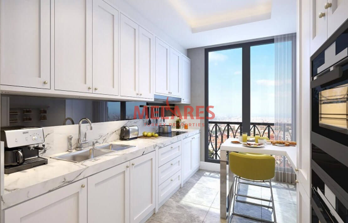 Luxury Apt for Sale in the Asian Side of Istanbul Near Maiden's Tower