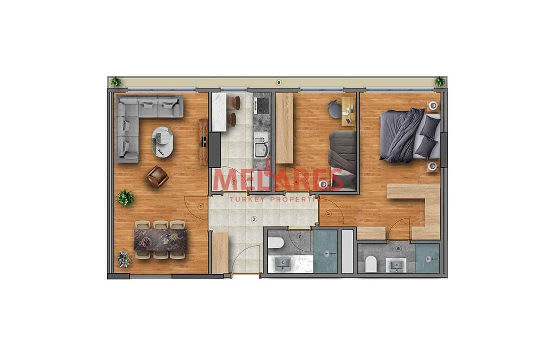 Affordable 2 Bedrooms Apartments in the Centre of Istanbul