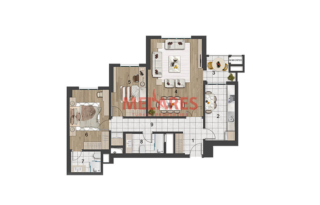 Apartments for Sale in Istanbul Within Walking Distance to Metro in the European Side