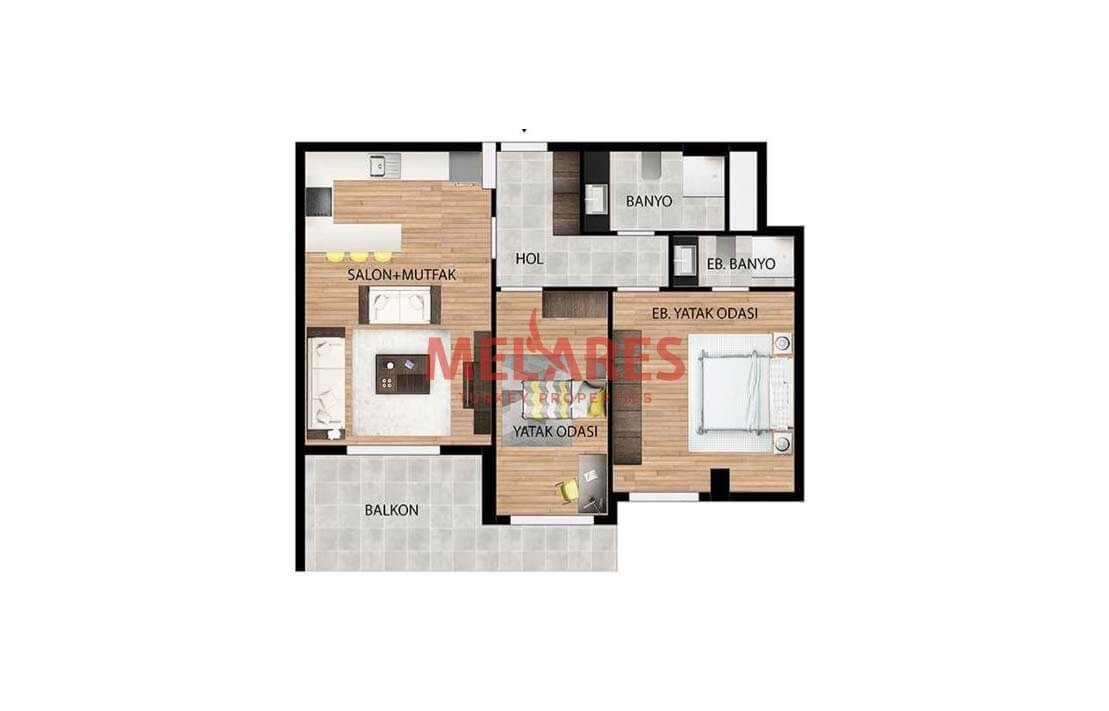 Two Bedrooms Apartment in Avcilar
