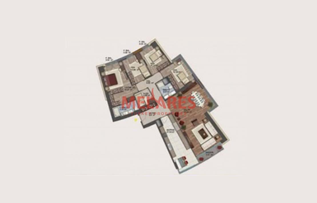Beautiful and Spacious Four Bedrooms Apartment in Kadikoy