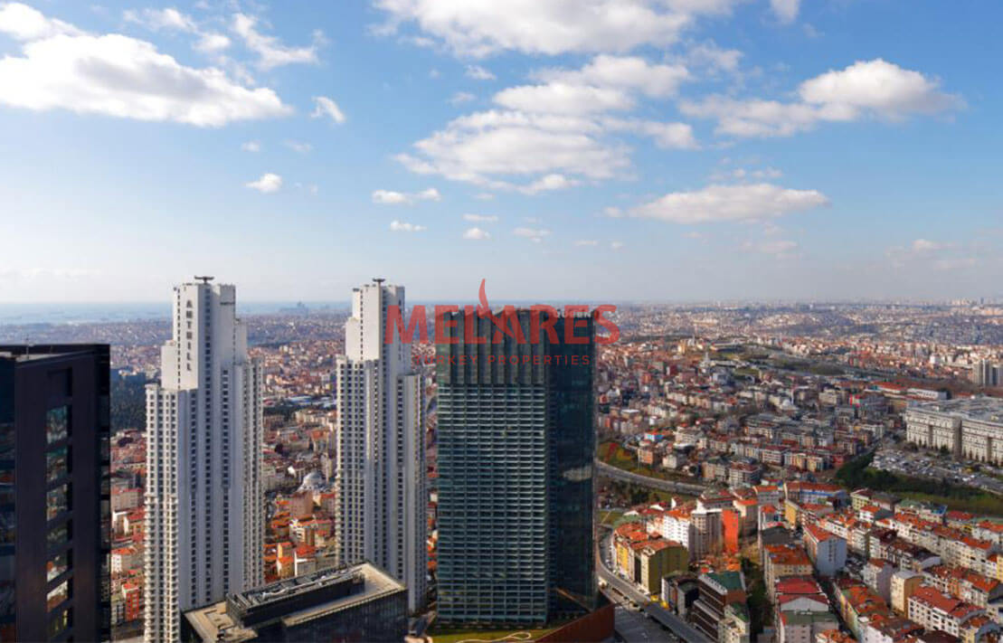 Double Facade Apartment for Sale with Amazing Panoramic View in Istanbul