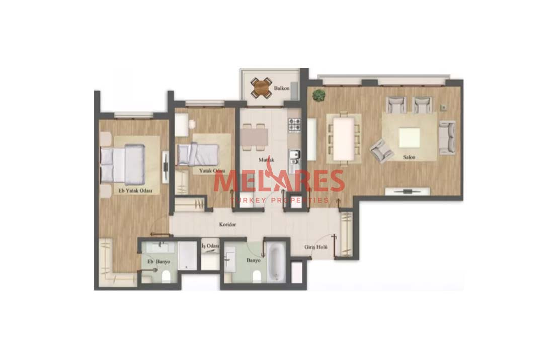 Delightful Apt For Sale in Istanbul Placed in An Incredible Project
