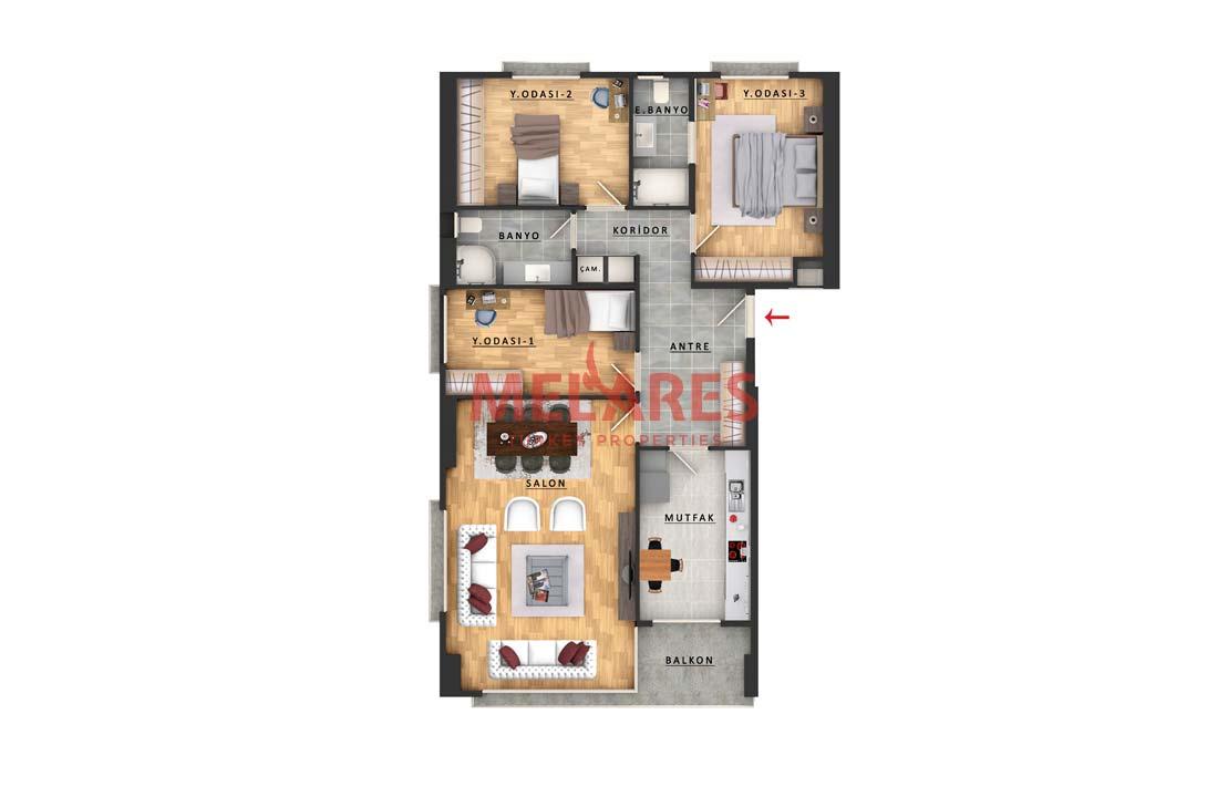 Awesome Large Apartment in Istanbul Bayrampasa