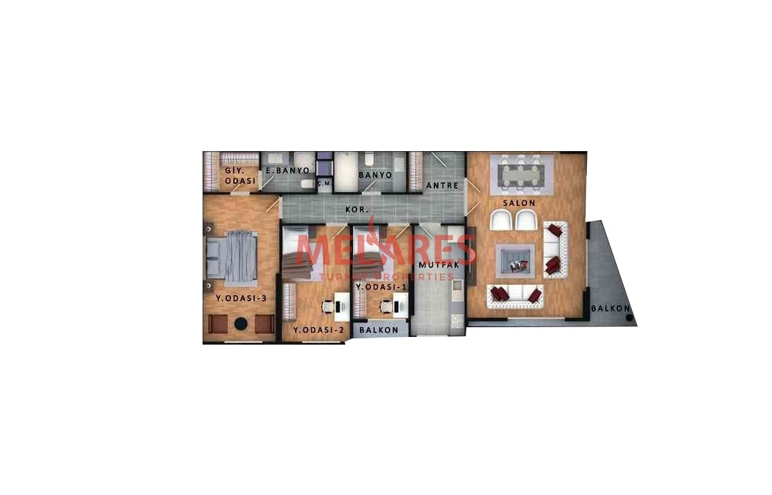Large Family Concept Apartment in Istanbul Beylikduzu