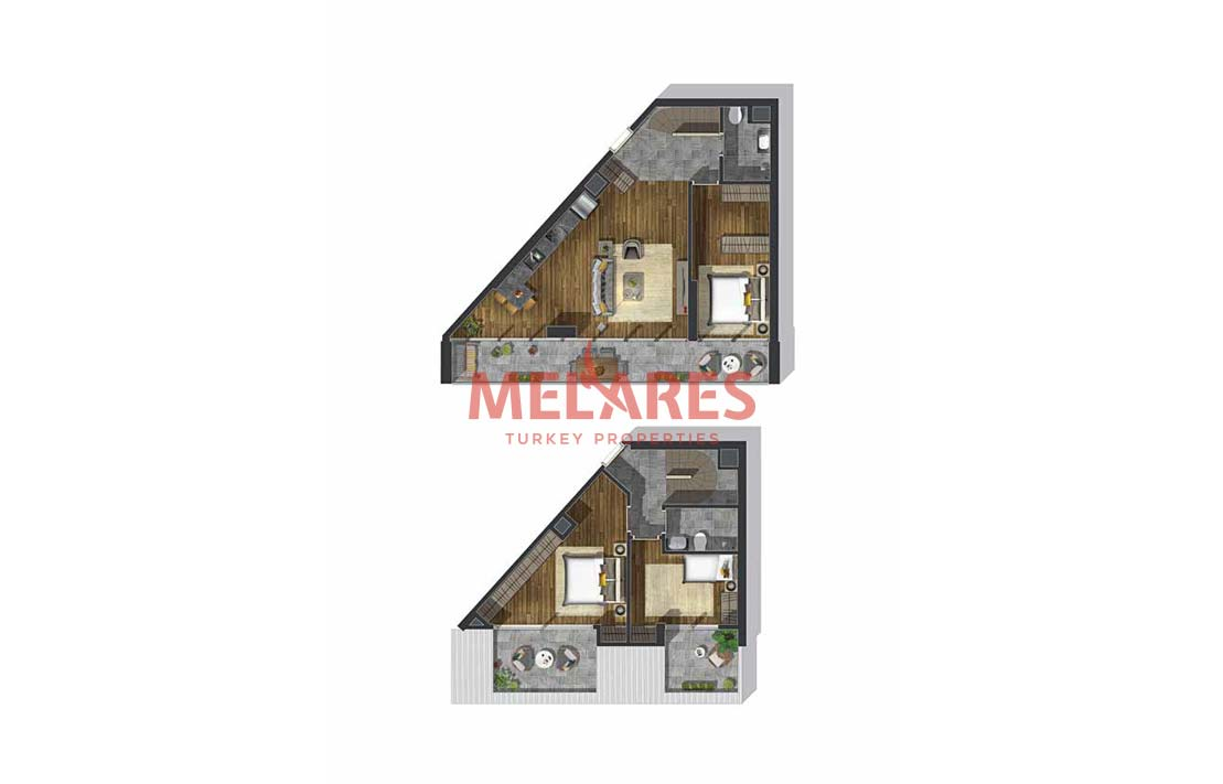 Unbelievable Duplex Apartments For Sale in The City Center of Istanbul