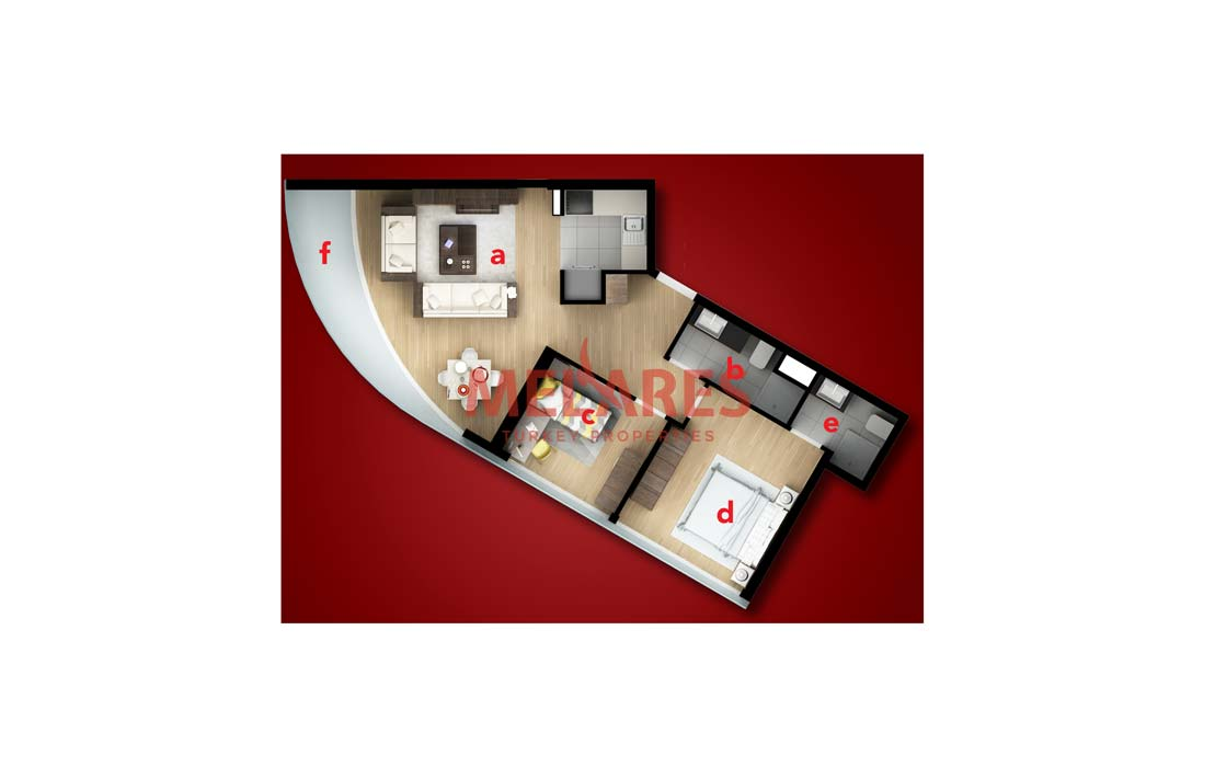 Buy a House in Turkey at The Tower Located The West Side of Istanbul