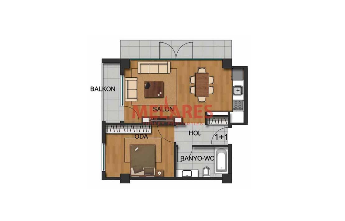 Buy Apartment in Calmest Istanbul District Beylikduzu With Two Balconies