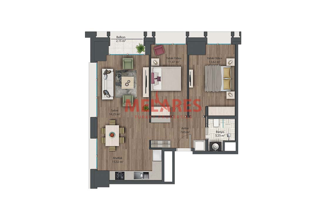 Apt for Sale in Istanbul Kadikoy Close to Metro Station