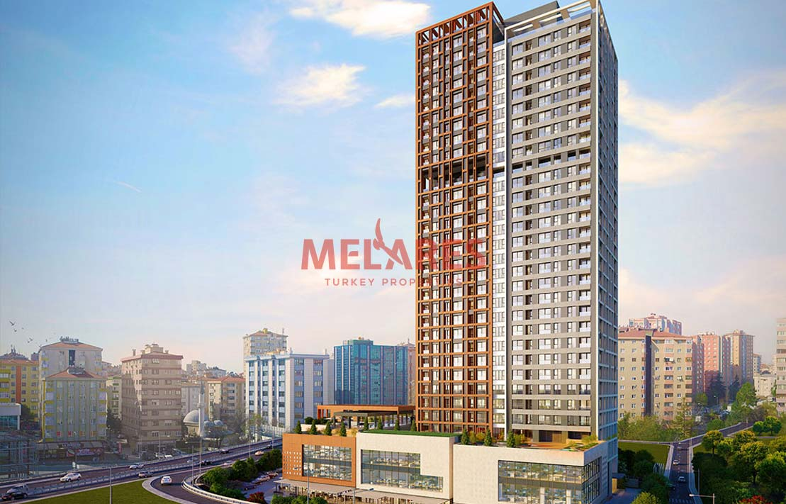 Close to Metro Station Apt for Sale in Istanbul Kadikoy