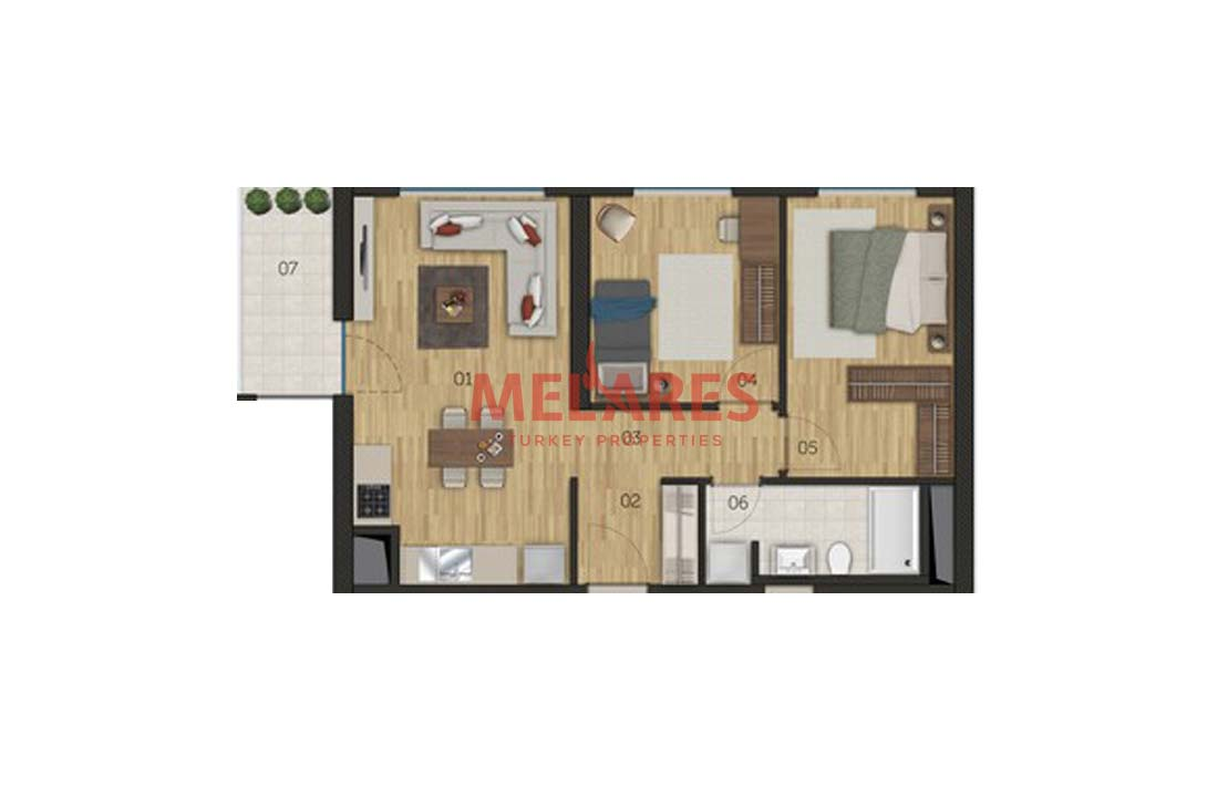 Central Location Apt for Sale in Istanbul Bagcilar