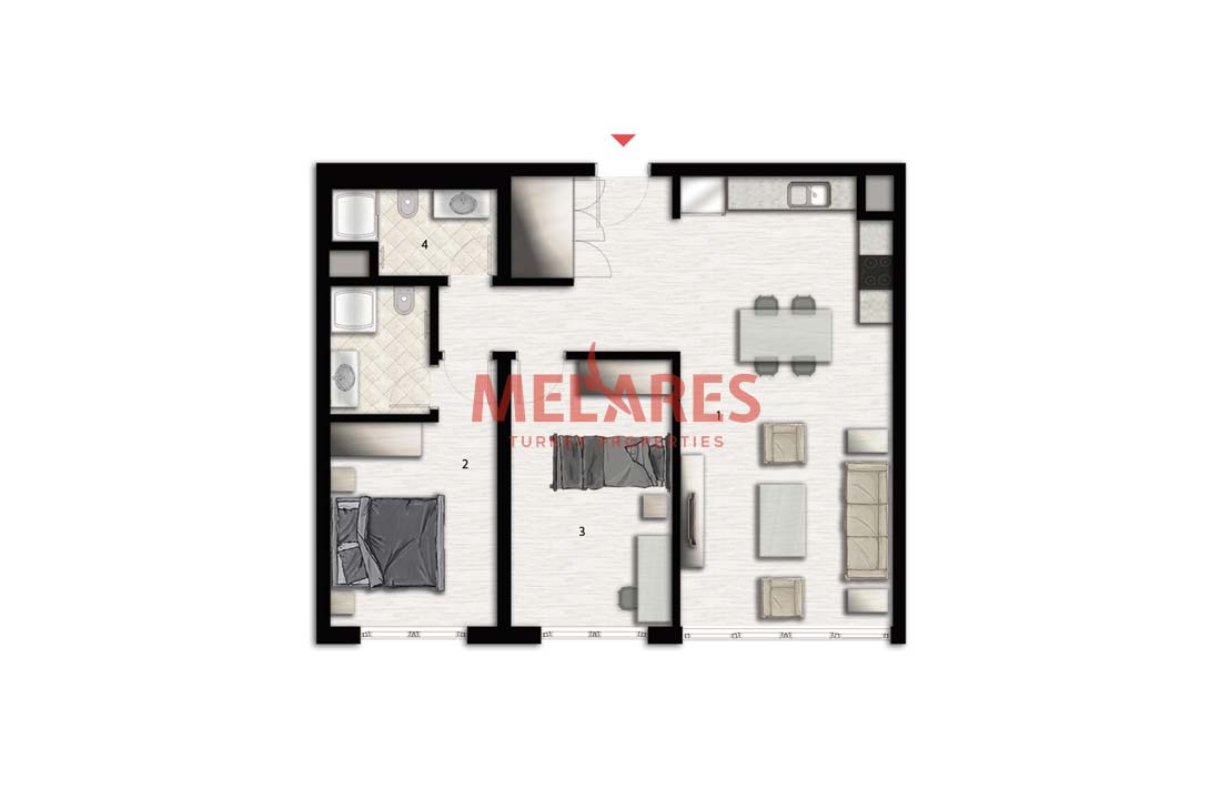 Close to Mall of Istanbul Apt for Sale in Istanbul Bagcilar