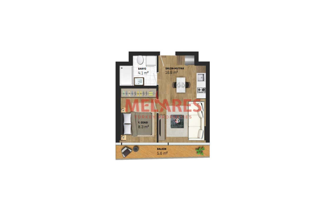 Apartment Suitable for Investment in Istanbul Kucukcekmece