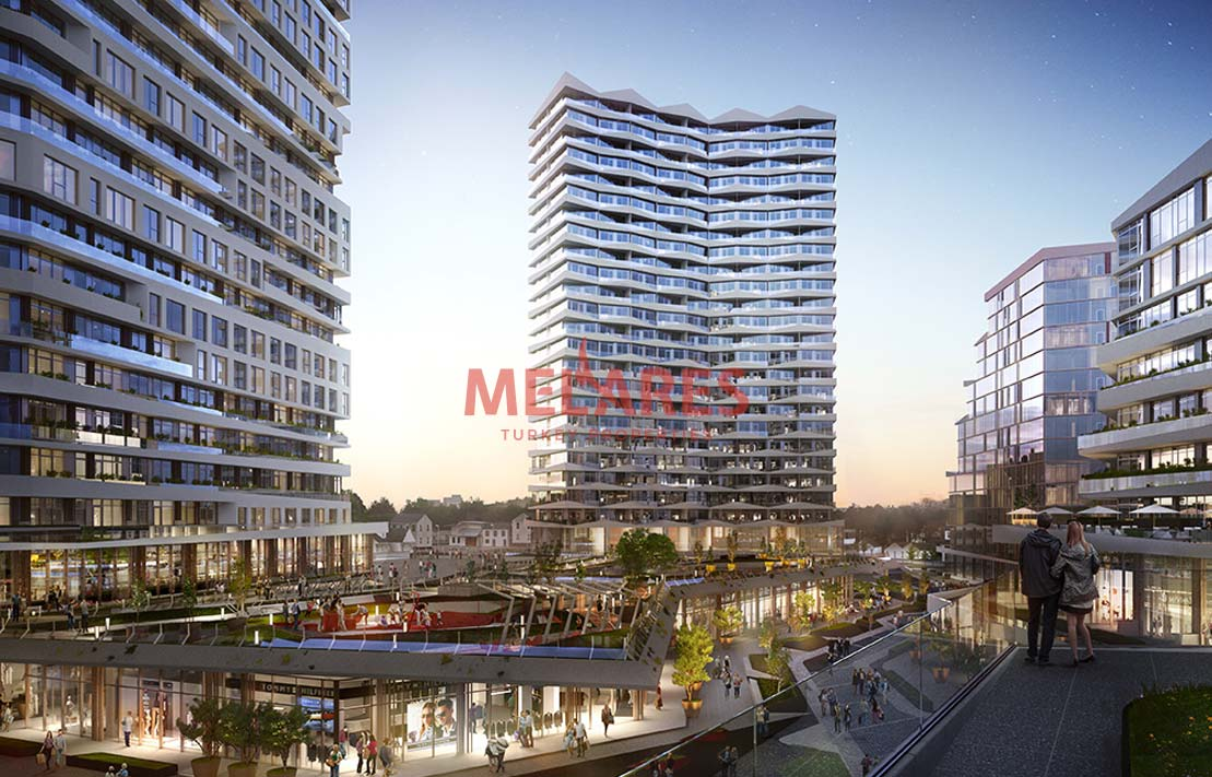 Property for Sale in Istanbul Kucukcekmece with Amazing Balcony