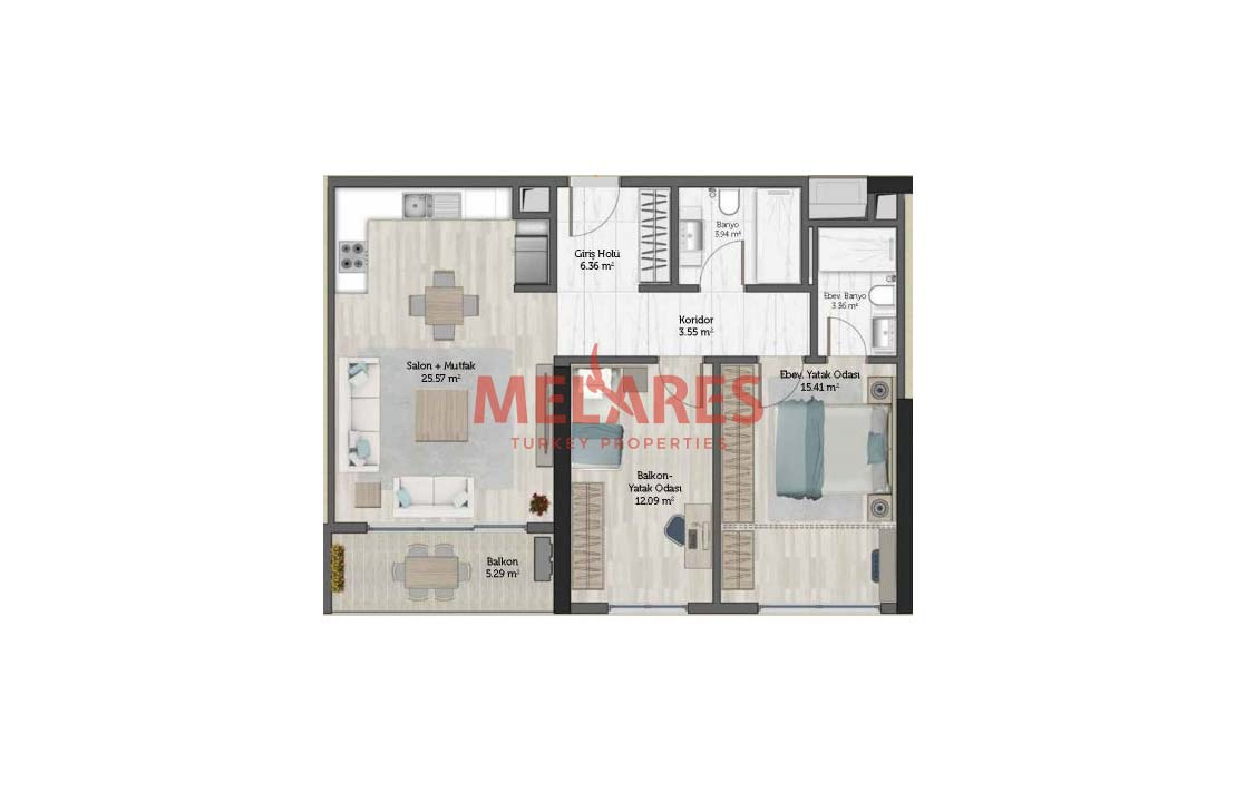 Close to Metro Apt for Sale in Istanbul Umraniye