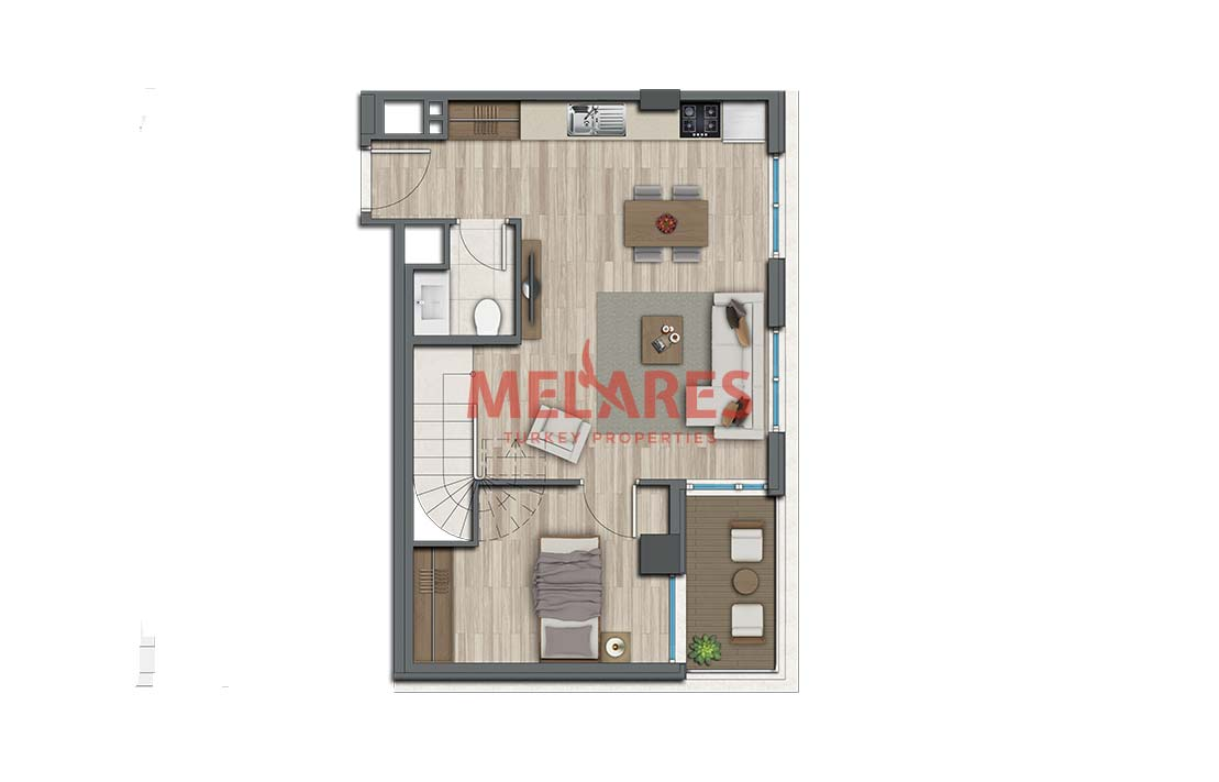 Buy Duplex House in Istanbul Kadikoy and Get Citizenship of Turkey