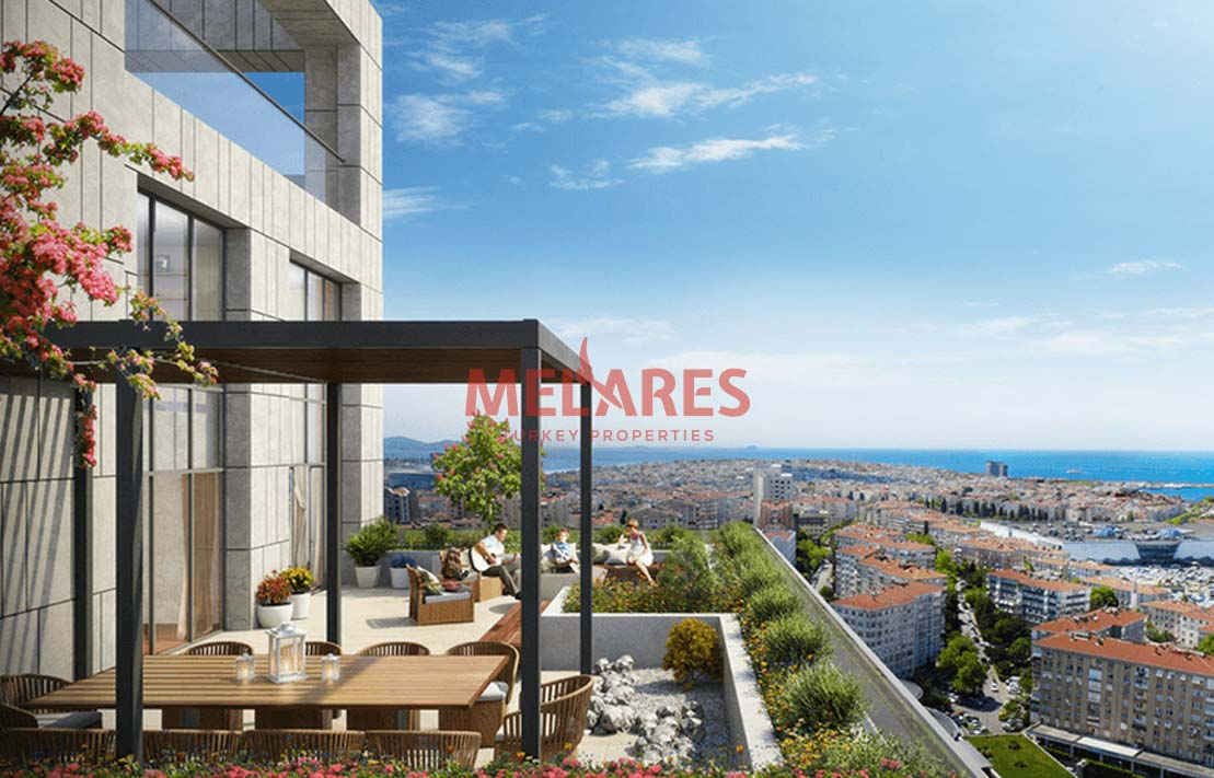 Citizenship of Turkey with Apartment Close to Sea in Istanbul Kadikoy
