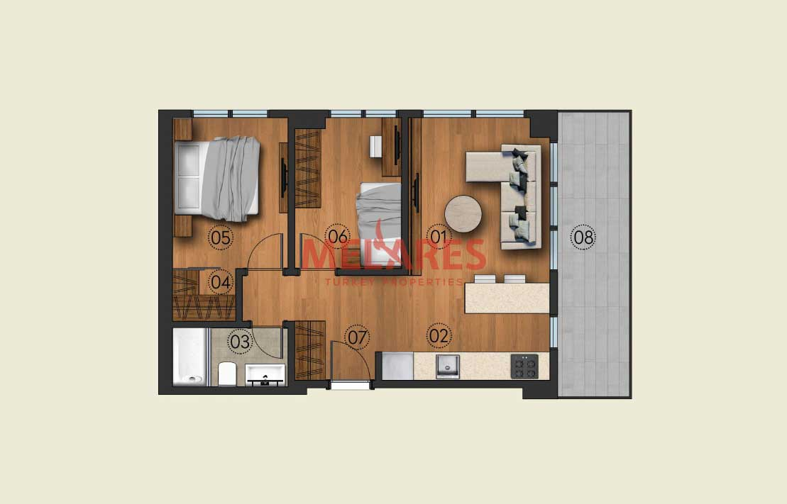 Central Apt for Sale in Istanbul Kagithane