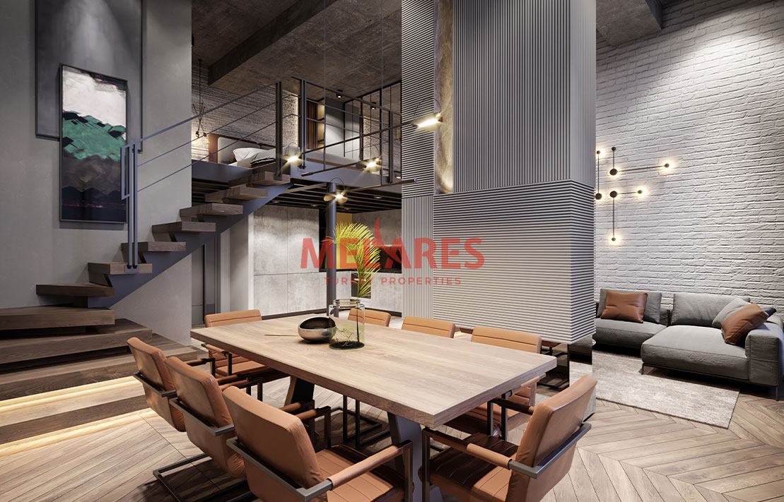 Luxury Loft Apartment for Sale in Istanbul Sariyer