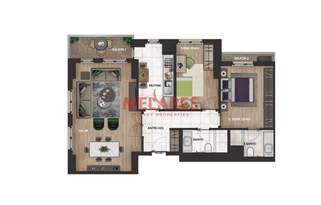 Modern Apartment for Sale in Istanbul