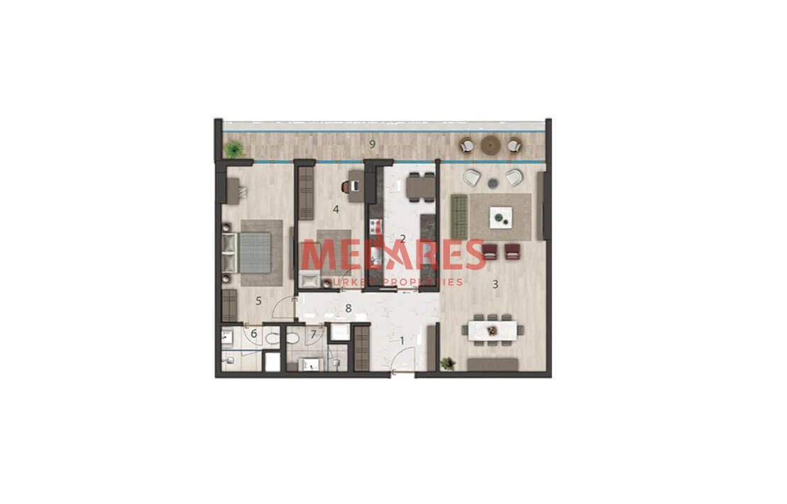 Luxurious and Large Apartment for Sale in Istanbul
