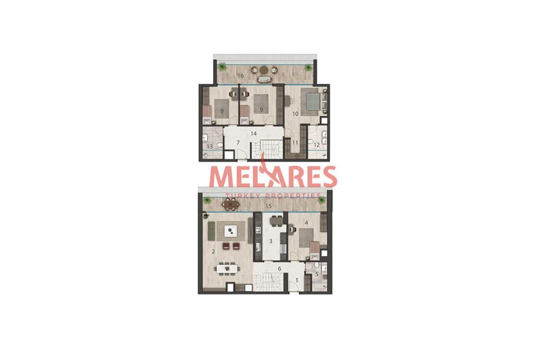 Luxurious Duplex Apartment for Sale in Istanbul Buyukcekmece
