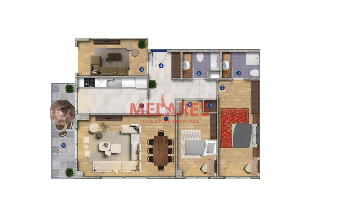 Modern and Spacious Apartment for Sale in Istanbul Buyukcekmece