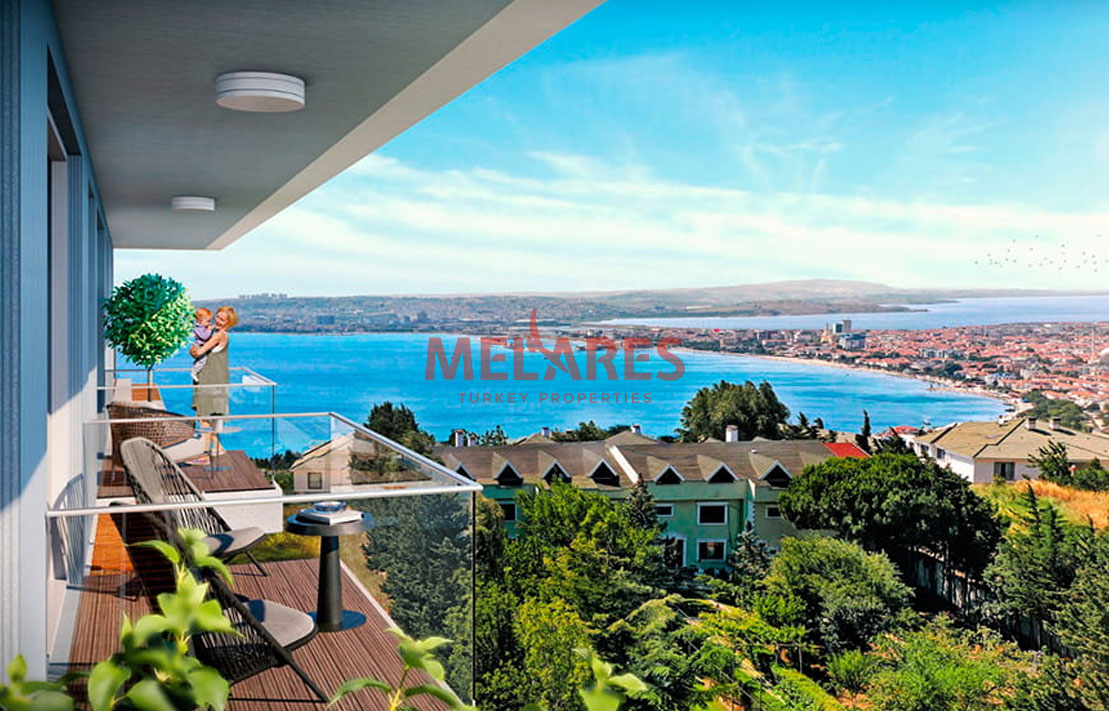 Duplex Apartment for Sale in Istanbul with an amazing view of the sea