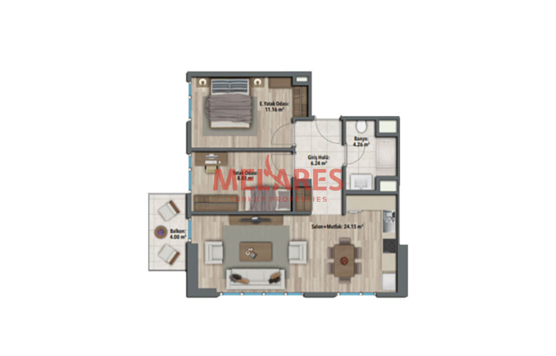 Sea Views Apartment for Sale in Istanbul