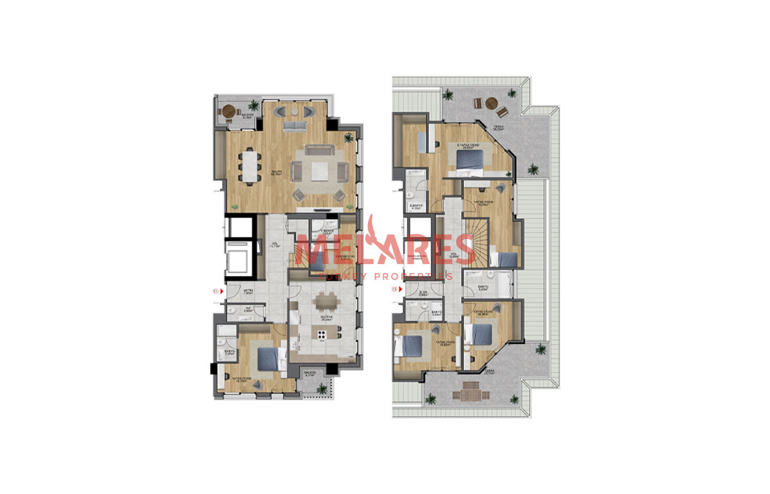 Obtain Turkish Citizenship by Investing on Duplex House for Sale in Uskudar