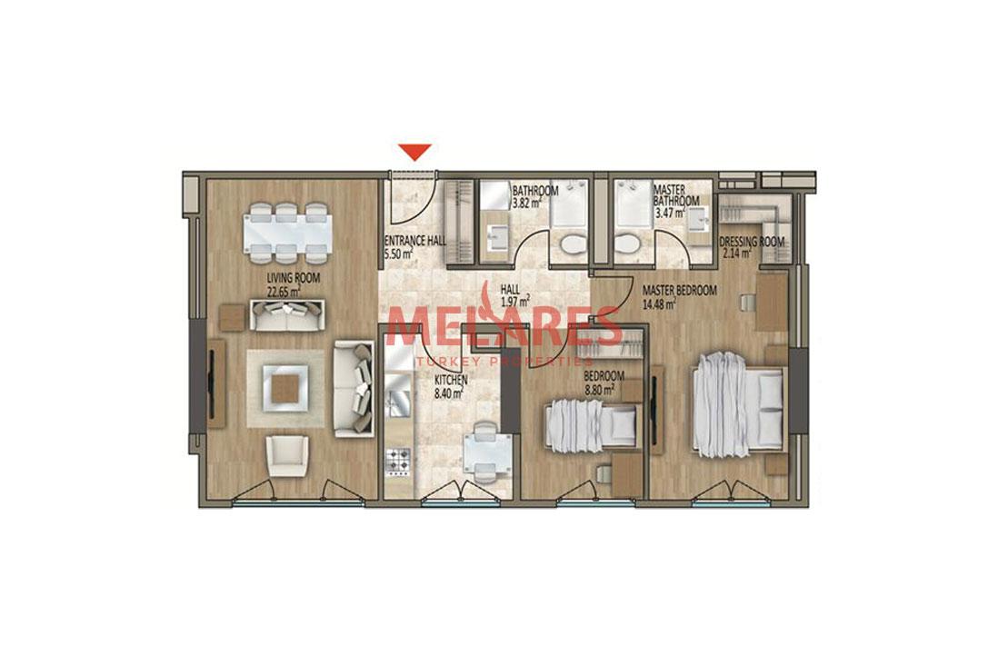 Apartment for Sale in Gaziosmanpasa European Side of Istanbul