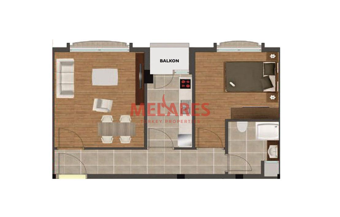 A special apartment for sale in Istanbul Beylikduzu