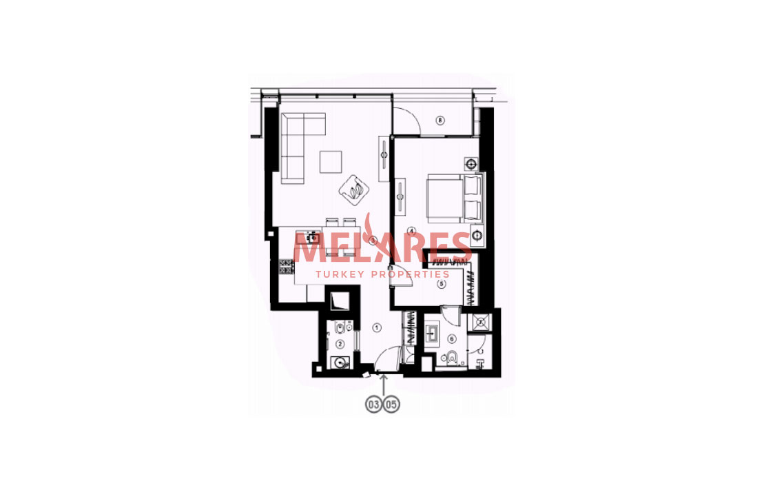 Property for Sale in Istanbul with Stunnig Interior Plan