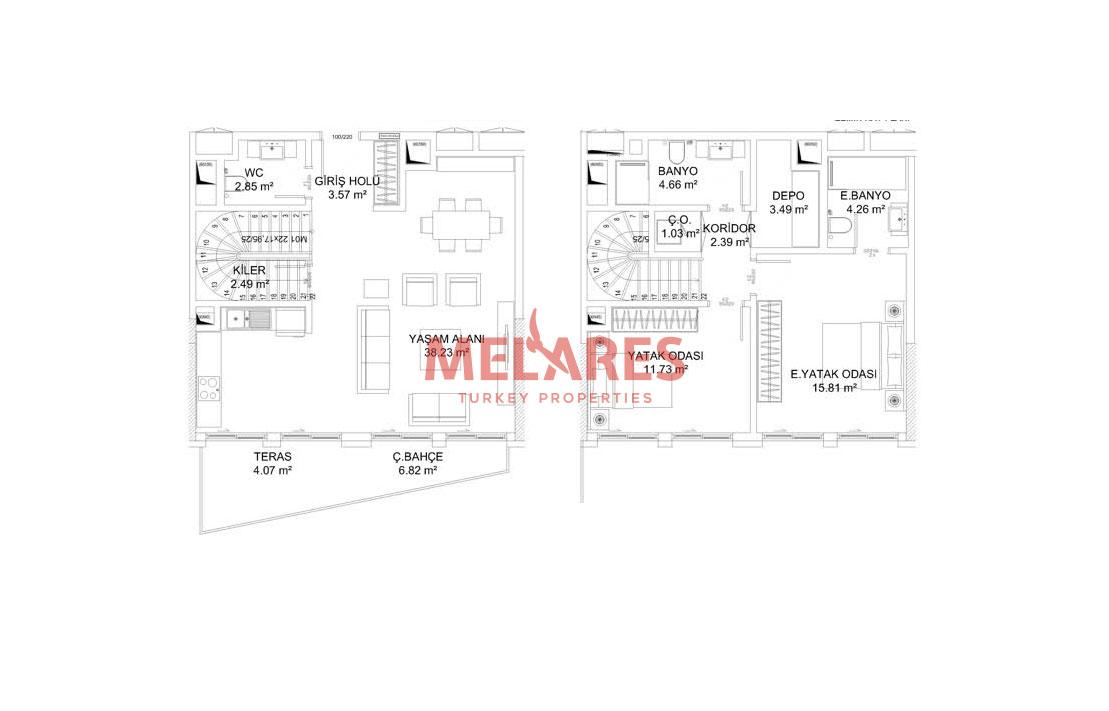 Duplex Houses for sale in Bosphorus Istanbul