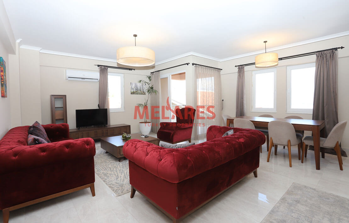 Fethiye Apartments for Sale with View of Mendos Montain on 3 Facades