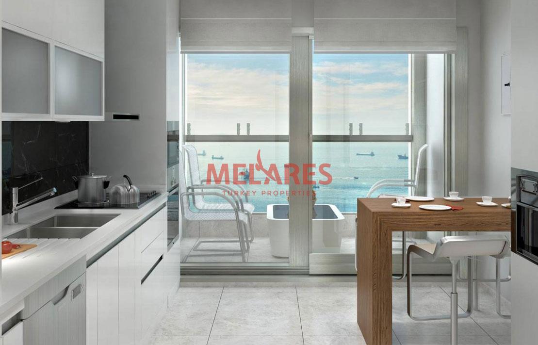 Modern Apartment with Panoramic Sea View in Zeytinburnu Istanbul