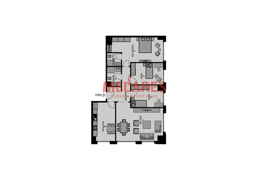 Real Estate for Sale with Perfect Interior Plan in Kadikoy Istanbul