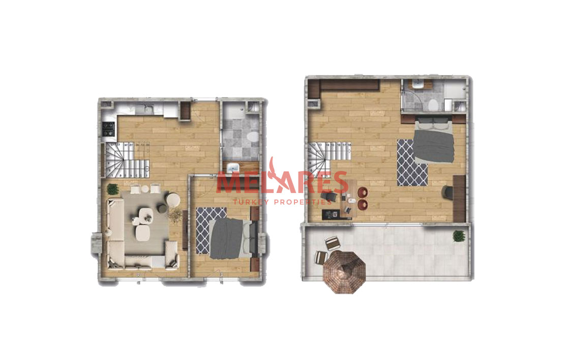 Duplex Homes for Sale with Exceptional Elegance in Beylikduzu Istanbul