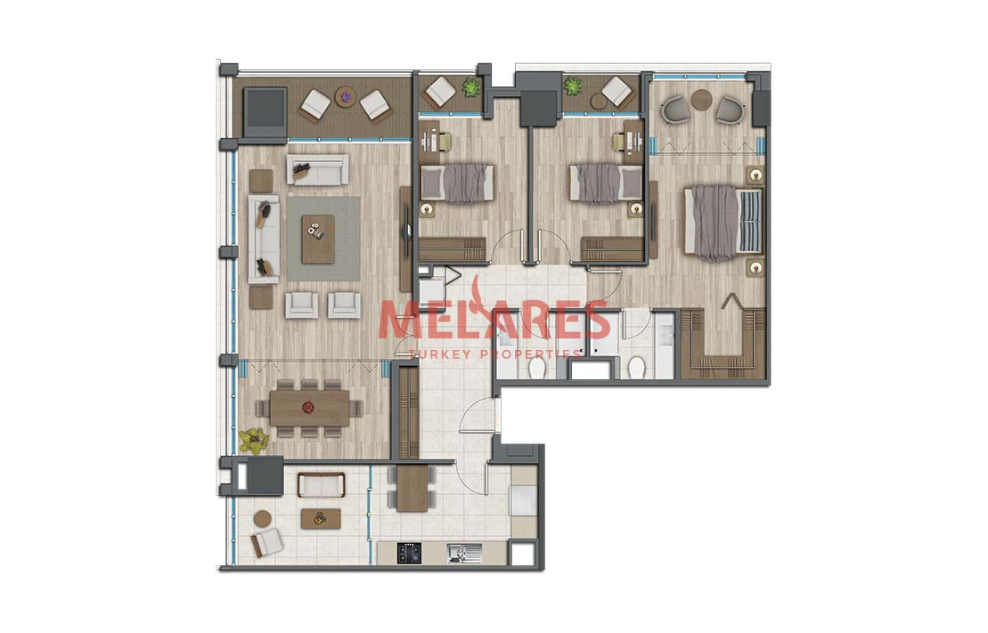 Central Luxury Apartments in Istanbul Kadikoy